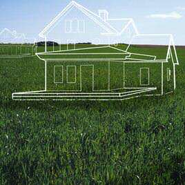 What is web hosting? - Outline of a house in a field